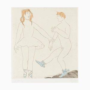 Desconocido - Step of Dance - Grabado Original sobre papel de Giacomo Manzù - años 70