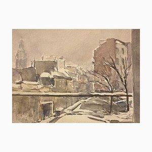Jacques Tillier - Snow Sua Paris (Paris Snow on) - 1960s
