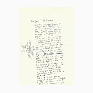 Fabrizio Clerici - a Journey to Austria - Autograph Letter Signed - 1952