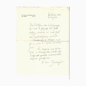 Fabrizio Clerici - Autograph Letter Signed - 1957