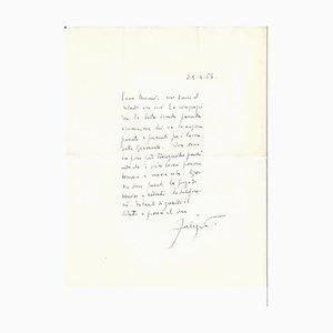 Fabrizio Clerici - Autograph Letter Signed - 1956
