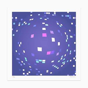 Dadodu - Violet Composition - Original Giclée Print - 2010
