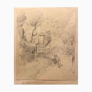 Charles Des Bordes - The Outdoor Painter - Pencil - 1880s