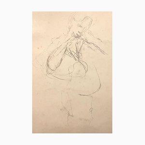 Mino Maccari - Confidences - Original Charcoal and Watercolor on Paper - 1980s