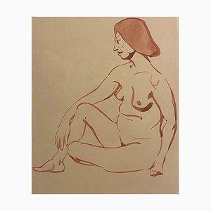 Jean Delpech - Nu de Femme - Aquarelle Originale - 1930s