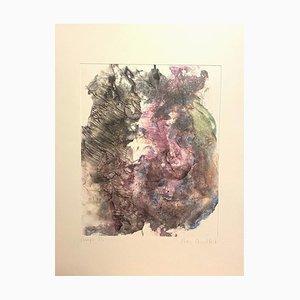Peter Dschlleit - Abstract Composition - Tusche und Aquarell auf Papier - 1973
