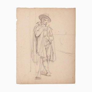 Unknown - Musiker - Original Bleistift auf Papier - 19. Jahrhundert