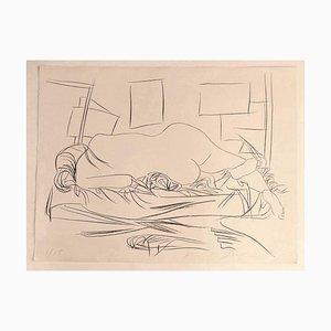 Pericle Fazzini - Nude - Original Lithografie auf Papier - 1970er Jahre