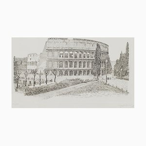 Giuseppe Malandrino - Colosseo - Originale Radierung - 1970er Jahre