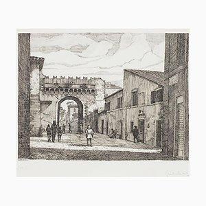 Giuseppe Malandrino - Rome-port Settimana - Original Radierung - 1970er Jahre