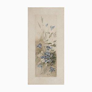 Inconnu - Fleurs - Gravure à l'Eau-Forte sur Papier - 19ème Siècle