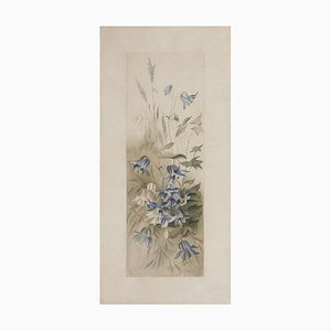 Unknown - Flowers - Original Etching on Paper - 19th Century