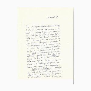 Fabrizio Clerici - Autograph Letter- 1958