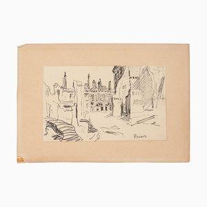 Unknown - View of Reims - Original Lithografie auf Papier - 1940