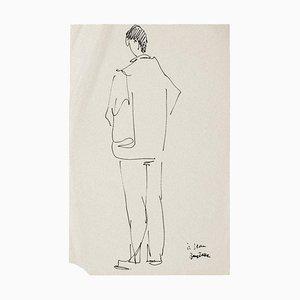 Inconnu - Figurine - Original Pen sur Papier - Mid-20th Century