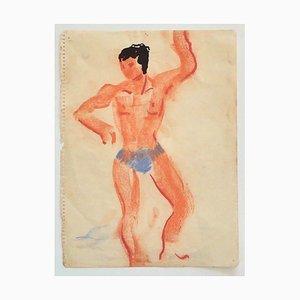 Unknown - Trainer - Original Pastell auf Papier - Mitte des 20. Jahrhunderts