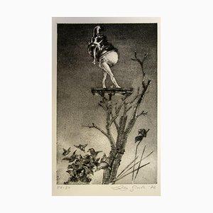Leo Guide - Figure - Original Etching - 1971