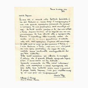 Autograph Einladungsschreiben von Mario Tozzi, 1934