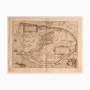 Franz Hogenberg - Landkarte der Niederlande - Litschentafel, 16. Jh