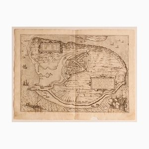 Franz Hogenberg - Map of the Netherlands - Etching -late 16th Century
