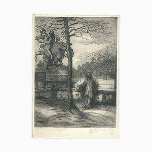 Unknown - Winter Morning - Original Radierung auf Papier - Frühes 20. Jahrhundert