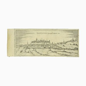 Franz Hogenberg - View of Freising - Etching - Late 16th Century