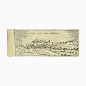 Franz Hogenberg - Vista di Freising - Acquaforte - tardo XVI secolo