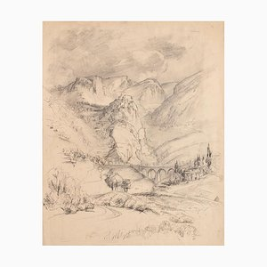 Unknown - Landscape - Original Pencil and China Ink - Early 20th Century