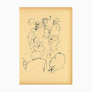 George Grosz - Homeland Figures - Original Offset and Lithograph - 1923