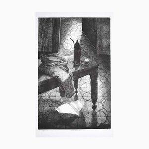 Piero Cesaroni - in the Room - Original Etching - 2002