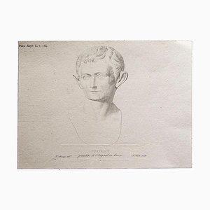 Francois Mazois - Römischer Kaiser - Originaler Druck - Frühes 19. Jahrhundert