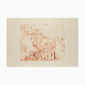 Aldo Pugliese - Gnu - Original Etching - 1971