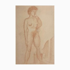 Jean Delpech - Nude - Original Pencil Drawing - 1950s