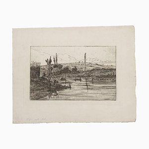 Unknown - Landscape - Original Etching Paper - Early 20th Century