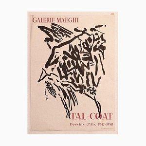 Pierre Tal-coat - Tal-coat Exhibition Poster - Original Offset Print - 1960 Ca.