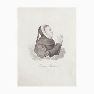 Giuseppe Morghen - Portrait of Francesco Petrarca - Early 19th Century