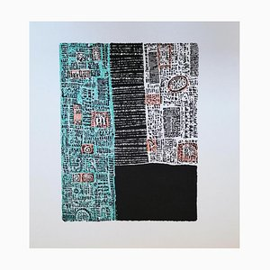 Luigi Spacal - Dalmatiner Quadrat - Original Holzschnitt Druck - 1970er Jahre
