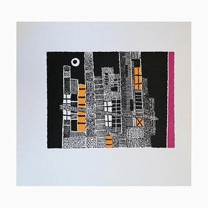 Lojze Spacal - The Enchanted City - Original Holzschnitt Druck - 1976