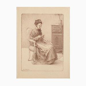 Charles Lucien Léandre - Ältere Frau - Lithographie - Frühes 20. Jahrhundert