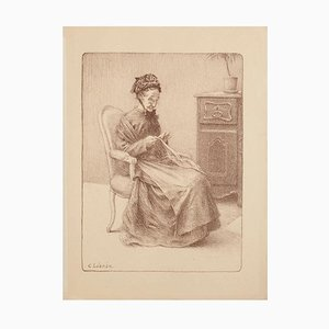 Charles Lucien Léandre - Elderly Woman - Lithograph - Early 20th Century