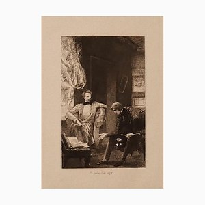 Ricardo De Los Rios - Conversation - Original Radierung - 1880 Ca