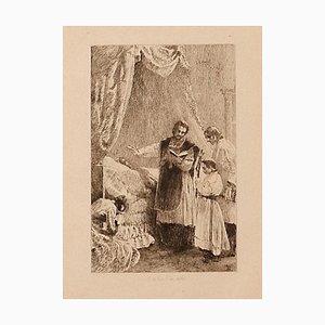 Ricardo De Los Rios - Extreme Anoction - Original Etching - 1880 Ca.