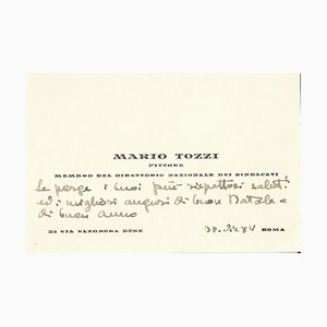 Christmas Wishes Card by Mario Tozzi, 1937