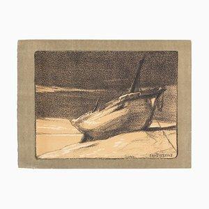 E. Pellens - Boats - Original Lithographies - 1918