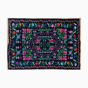 Handwoven Summerish Floral Rug with Colorful Flowers