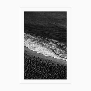 Black and White Giclée Print of Sandy Shore with Foam, Classy Black and White, 2021