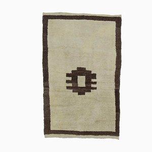 Türkischer Vintage Tulu Teppich in Beige