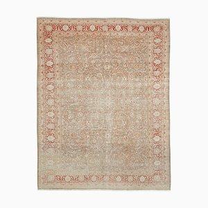 Großer Türkischer Vintage Beiger Bodenteppich