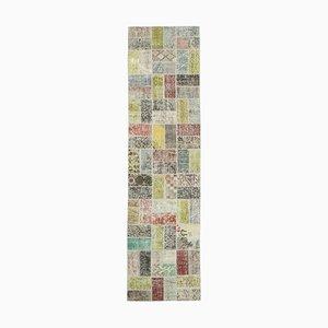 Vintage Multicolor Patchwork Runner Rug