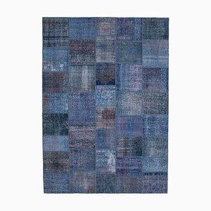 Vintage Blue Patchwork Rug